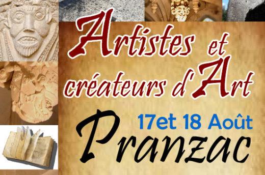 Affiche PRANZAC dévoile son PATRIMOINE et ses ARTISTES